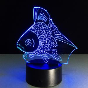 Colorful 3D Visual Fish Shape LED Table Night Light - Colorful - W79 Inch * L59 Inch
