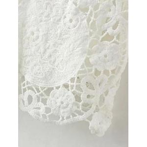Floral Crochet Lace Dress with Sleeves -