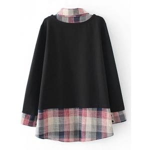 Plus Size Layered Sweatshirt - BLACK 3XL