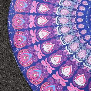 Bohemia Feather Mandala Vortex Imprimer Plage ronde Throw -