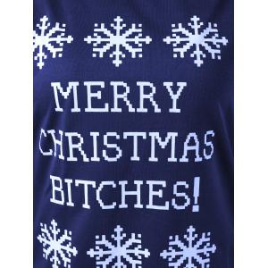Merry Christmas Bitches Graphic Sweatshirt - DEEP BLUE M