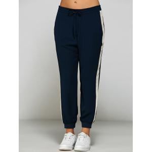 Side Stripe Chiffon Jogging Pants -