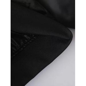Patched Quilted Thermal Bomber Jacket - BLACK S
