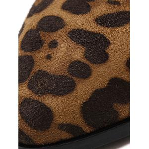 Stitching Leopard Print Splicing Ankle Boots -
