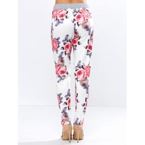 Drawstring Floral Casual Ankle Length Pants -