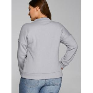 Slit Letter Thickening Sweatshirt - GRAY 2XL