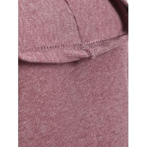 High Low Hooded Pullover Knitwear - BRICK RED XL