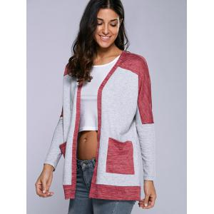 Double Pockets Contrast Trim Cardigan -