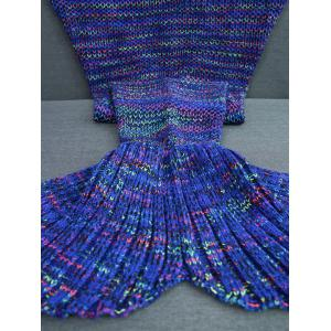 Colorful Crochet Knitting Mermaid Tail Design Blanket - COLORMIX W31.50INCH*L70.70INCH