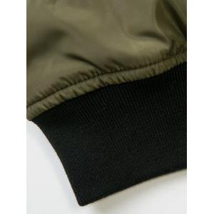 Zip-Up Patched Jacket - ARMY GREEN L