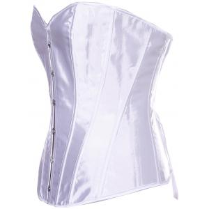 Sheeny Buckle Lace-Up Corset -