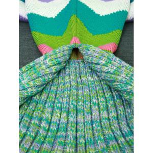 Warmth Colored Wave Stripes Design Knitting Mermaid Tail Blanket -