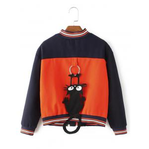 Zip-Up Kitten Cartoon Jacket -