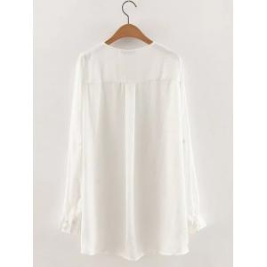 Slit Long Loose Blouse -