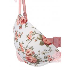 Lace Panel Floral Bra and Panty Set -