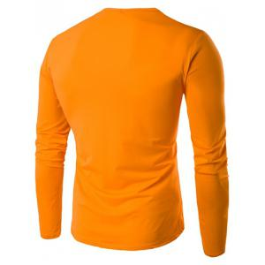 V Neck Long Sleeve Plain T Shirt -