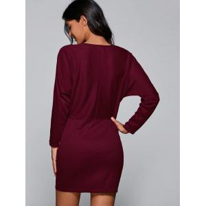 Batwing Sleeve Sheath Mini Dress -