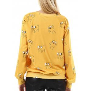 Cartoon Pattern Pullover Sweatshirt -