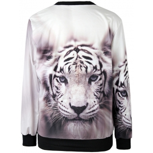 3D Print Tiger Head Sweatshirt -