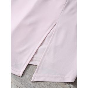 High Waist Slit Culotte Skinny Shorts -