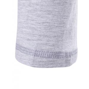 V-Neck Patch Design Henley Shirt - GRAY 5XL