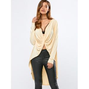 High-Low Wrap T-Shirt -