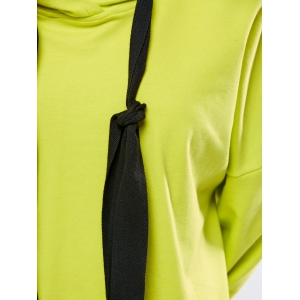 Oversized Long Hoodie - FLUORESCENT YELLOW L