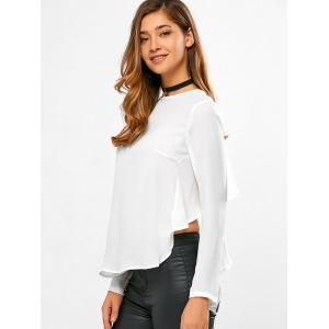 Round Neck Flouncing Blouse -