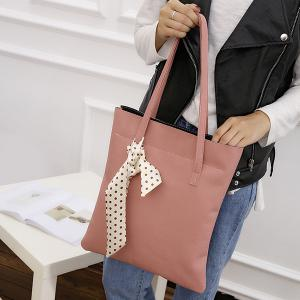 Textured Leather Stitching Scarves Shoulder Bag -