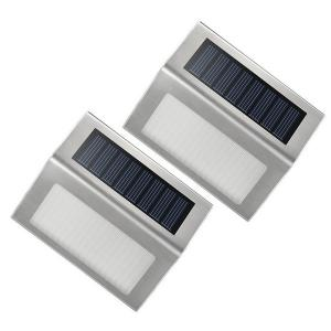3 LED Solar Garden Lights Outdoor Decorative Waterproof Courtyard Wall Lamp - COLORMIX