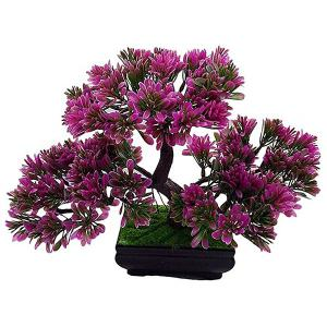 Simulation Craft Artificial Evergreen Tree Bonsai Decoration - PURPLE