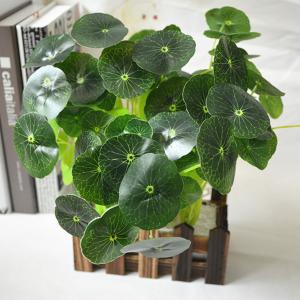 High Simulation Branch Artificial Lotus Leaves Greenery Plant -