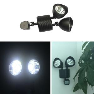 LED Solar Garden Lights Outdoor Decorative Waterproof Induction Double Wall Lamp -