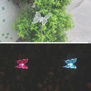 LED Solar Garden Lights Outdoor Decorative Waterproof Flight Lawn Lamp - TRANSPARENT