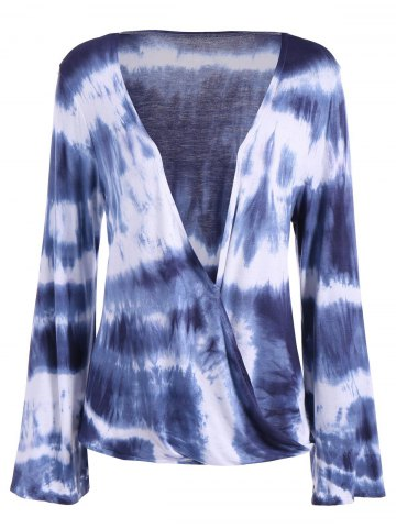Outfit Tie-Dye Bell Sleeve  Blouse