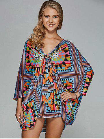 Affordable Twist Front Tribal Blouse