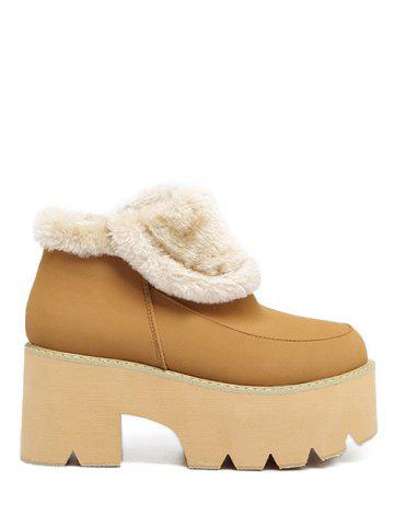 Outfits Platform Chunky Heel Zipper Ankle Boots