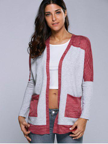 Outfit Double Pockets Contrast Trim Cardigan
