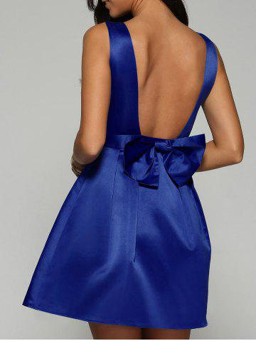 Affordable Open Back Fit and Flare Dress