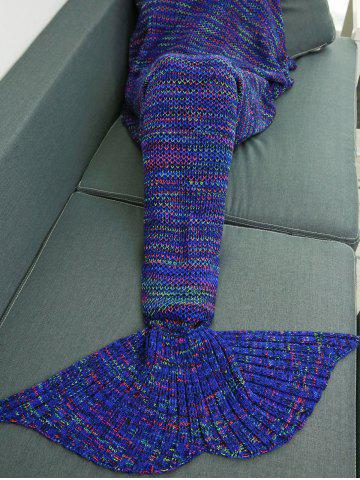 Sale Colorful Crochet Knitting Mermaid Tail Design Blanket