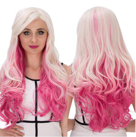 Outfits Long Side Bang Wavy Multicolor Cosplay Synthetic Wig COLORMIX