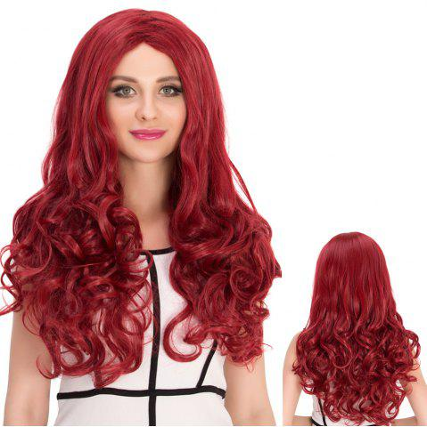 Cheap Long Centre Parting Wavy Stunning Cosplay Synthetic Wig