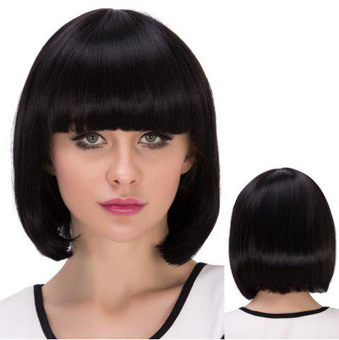 Outfit Short Neat Bang Straight Bob Synthetic Wig