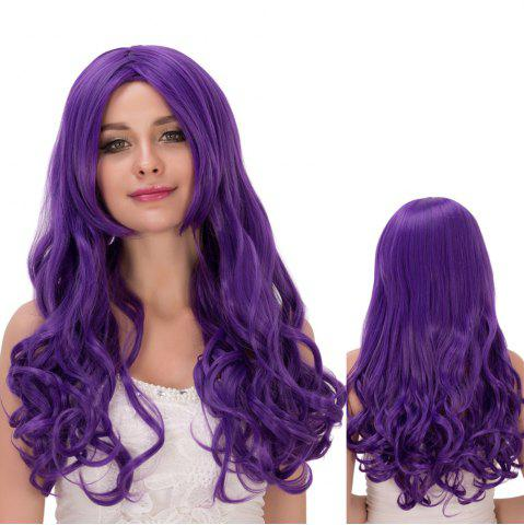Outfits Long Centre Parting Shaggy Wavy Synthetic Lolita Wig AMETHYST