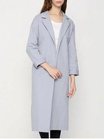 Latest Lapel Buttonless Wrap Coat