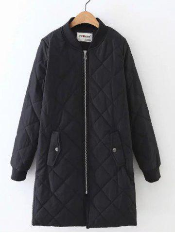 Outfits Zip-Up Fitting Padded Coat BLACK S