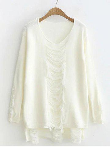 Hot High-Low Ripped Loose Sweater