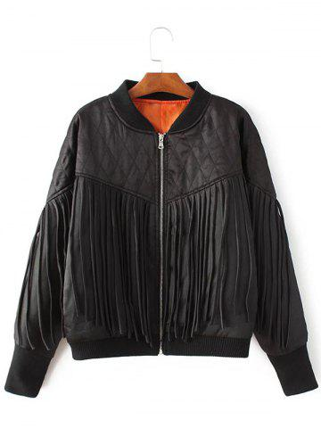 Store Tassels Zip-Up Quilted Jacket