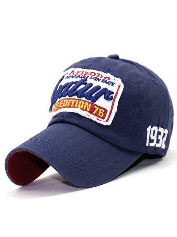 Shop Patch Letter Embroidery Baseball Hat - CADETBLUE  Mobile