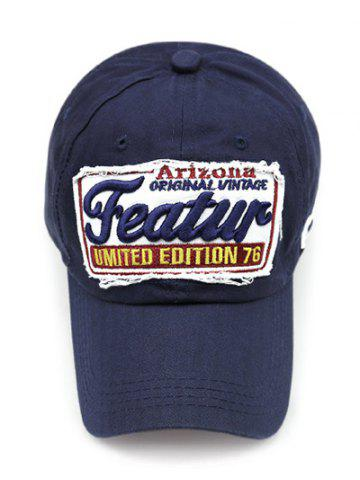 Unique Patch Letter Embroidery Baseball Hat - CADETBLUE  Mobile